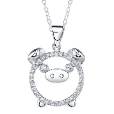65 best necklaces images on pinterest vintage necklaces jewerly cubic zirconia pig pendant found at jcpenney mozeypictures Gallery