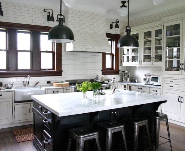 coffee shop inspired kitchen