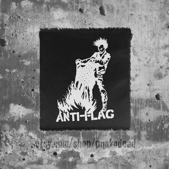 Anti-Flag patch • Burning Flag Government-issue patch • punk patch • anti government • punk aufnäher • custom patches AU$3.82