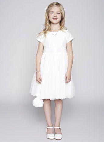 Alexa Ivory Flower Girl Dress