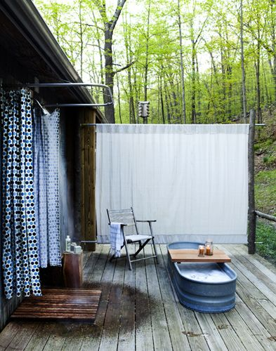 outdoor shower...I love it!