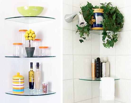 curved glass shelves for shower