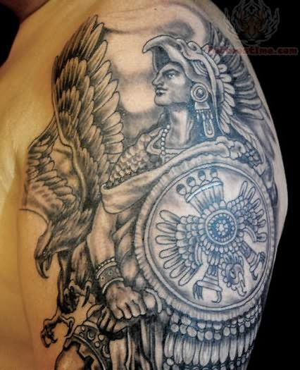 Best 25 aztec tattoo designs ideas on pinterest aztec for Mexican heritage tattoos