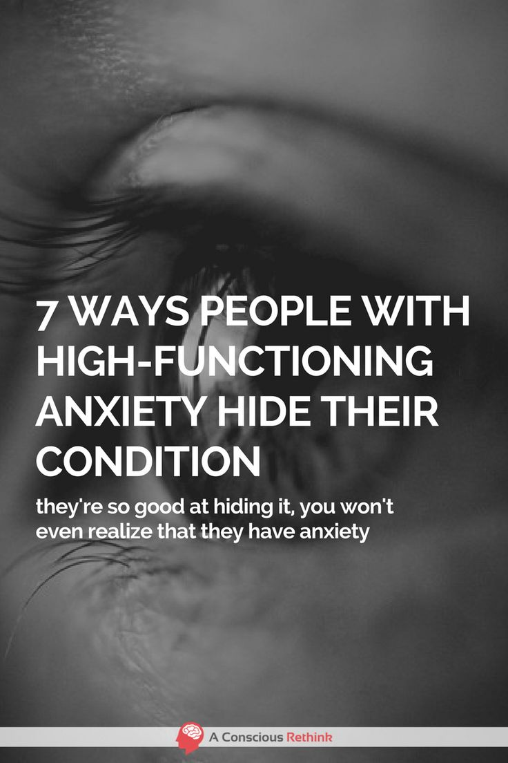 More people suffer from high-functioning anxiety than you might think - they are just really good at hiding their condition by doing these 7 things.  symptoms, signs of, disorder, treatment, dealing with