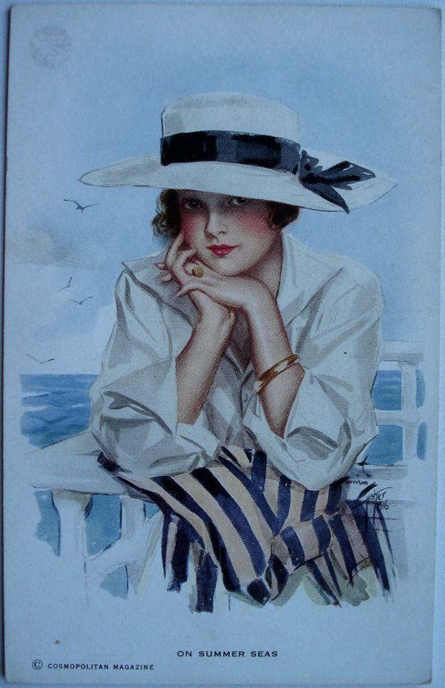 """On Summer Seas"" illustration by Harrison Fisher:"