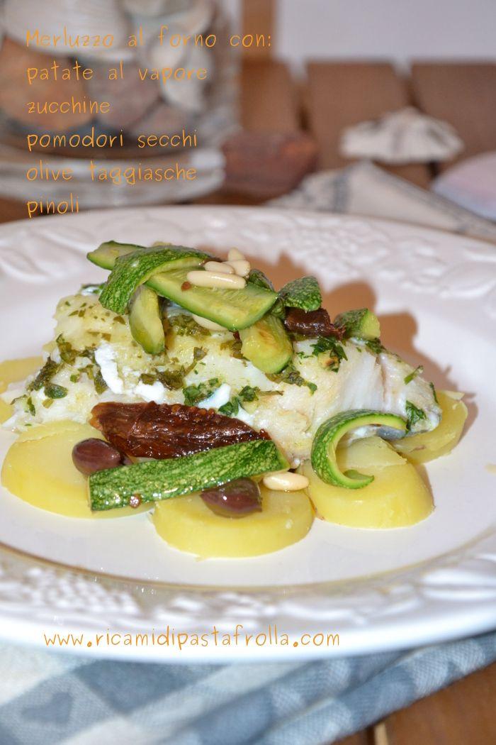 merluzzo al forno - verdure saltate - patate al vapore - ricette pesce