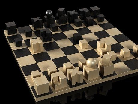 Naef toys Bauhaus chess pieces 3d model | Josef Hartwig