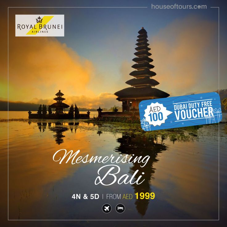 Travel to Bali with houseoftours.com and get vouchers worth AED100 free