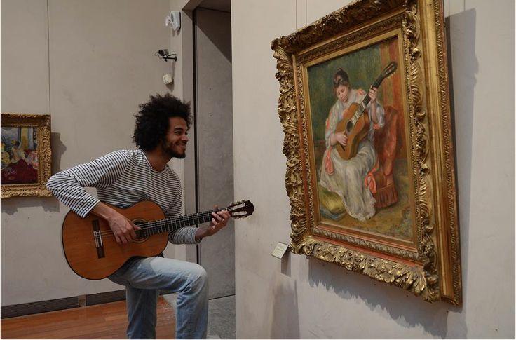 Médiation au Musée des Beaux Arts de Lyon. Renoir, Femme jouant de la guitare, 1896-1897.