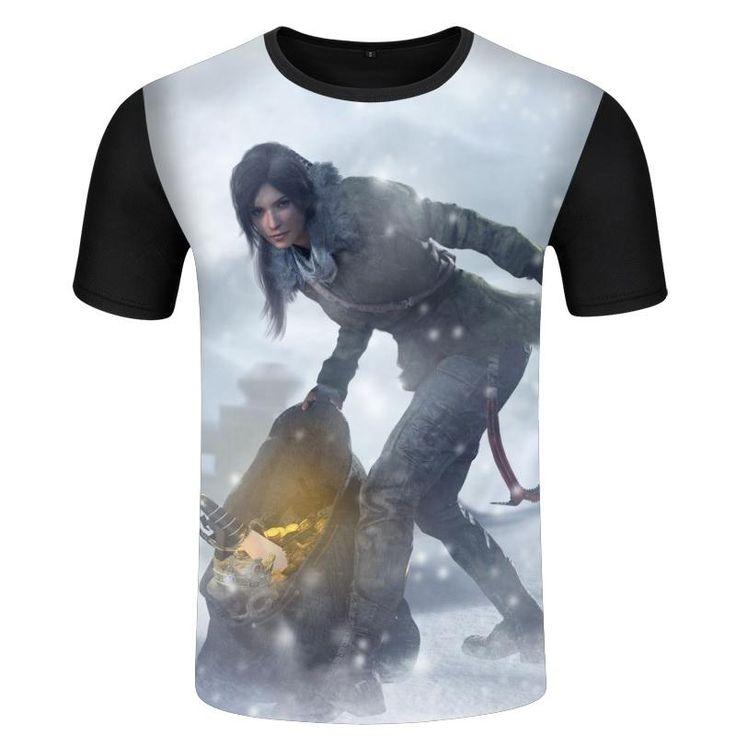 Tomb Raider Lara 3D Gençler İçin T Gömlek