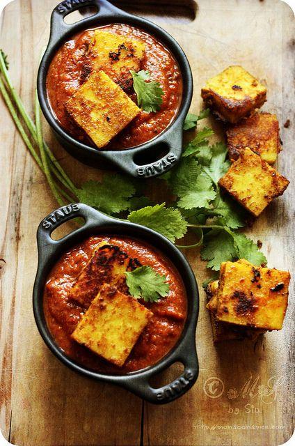 Paneer Tikka Masala [Make with tofu instead of cheese! So yummy!]