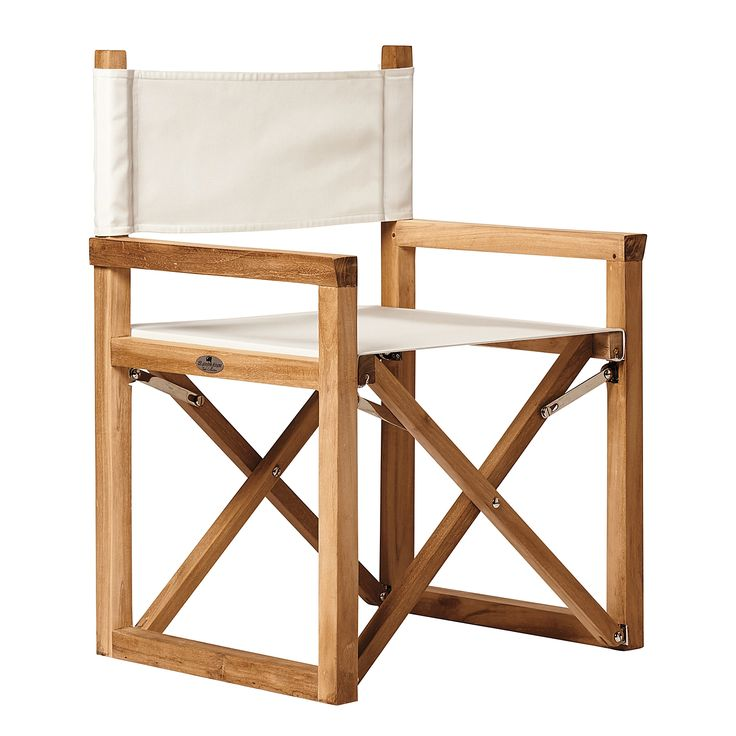 Directoru0027s Chair In Khaki/Natural Awning Stripe Sunbrella.