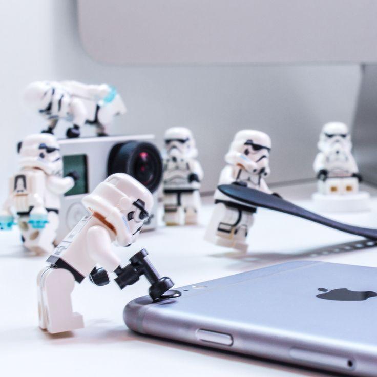 Lego, stormtrooper, iPhone, imac, iWatch