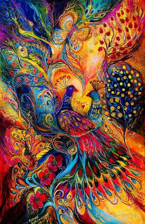 Peacocks by Elena Kotliarker
