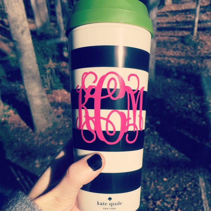 I love coffee and nothing makes it better than my love of custom tumblers and thermal mugs!!  New Kate Spade and Lilly hitting the shop this week! #ssmonogramshop #etsy #monograms #katespade