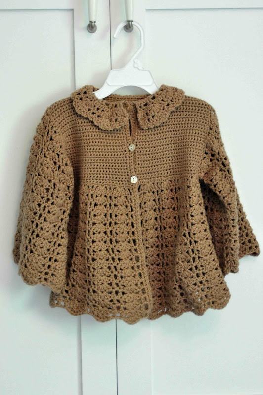 Aesthetic Nest: Crochet: Toddler Version of Baby Announcement Sweater
