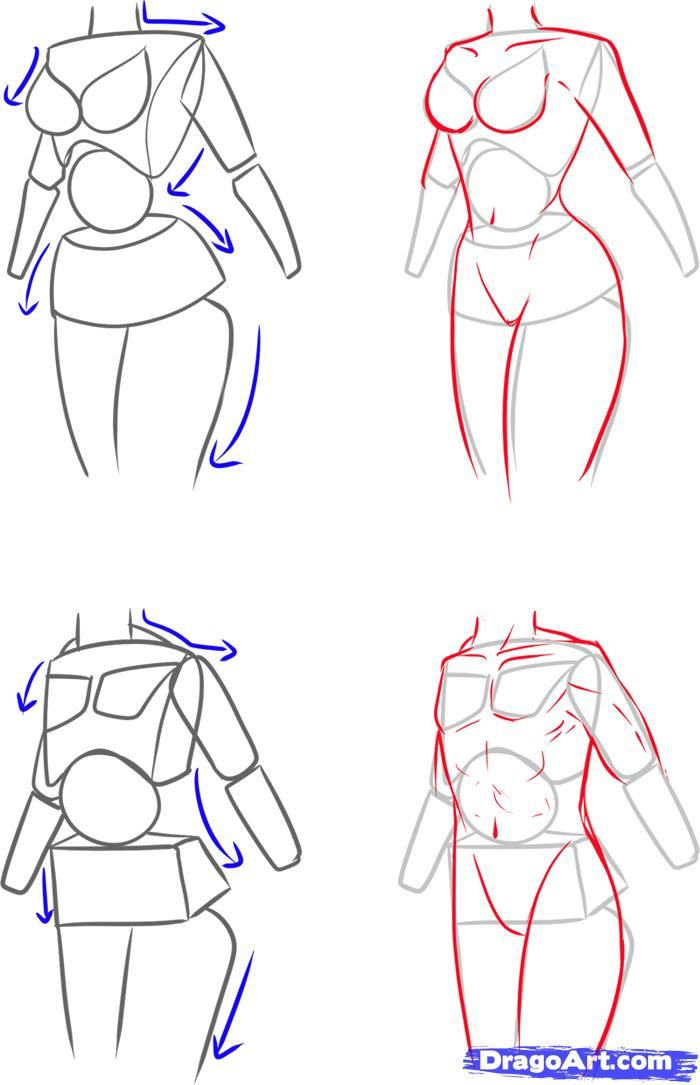 How to Draw a Female Body, Step by Step, Anatomy, People, FREE Online Drawing Tutorial, Added by Ghostiy, May 26, 2011, 6:36:51 am