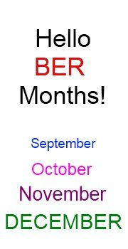 Hello 'BER Months! Almost Christmas and means another year is ending. What happened to my year?!