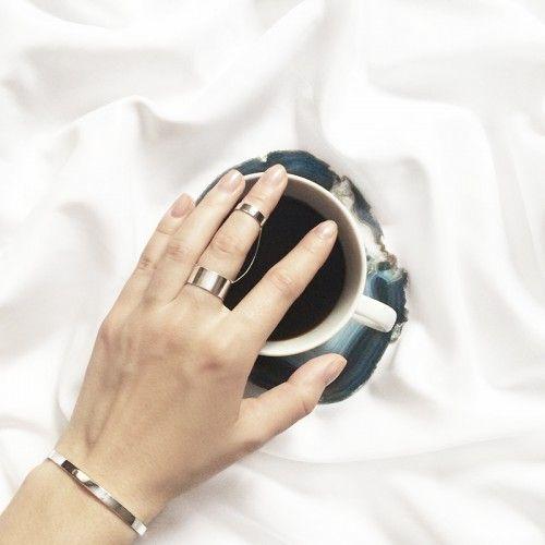 Двойное кольцо с цепочкой | Velichenko Jewellery Studio