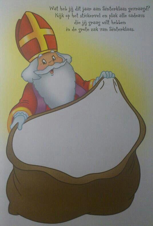 Sinterklaas/ Sint Nicolaas Knutselblad; Wat zijn jouw wensen?!