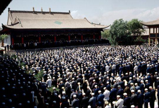 China, Xining. Qinghai. 1984   The Dongguan Masjid