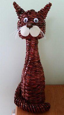 Zobacz zdjęcie kot z wikliny papierowej