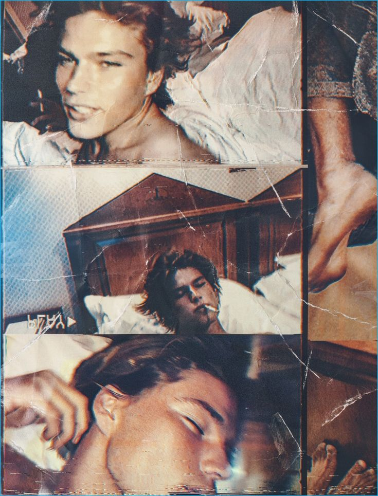 A Wonderland collage featuring nonchalant pictures of Jordan Barrett.