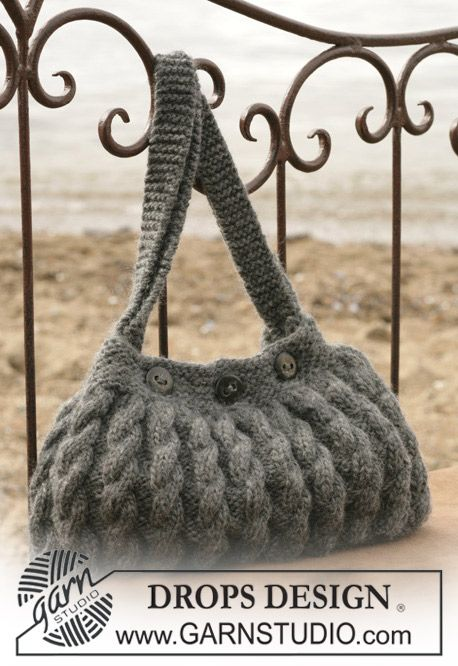 DROPS Bag with cable pattern..free pattern