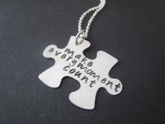 Puzzled Hand stamped sterling silver by stampedjewellery on Etsy, $51.00