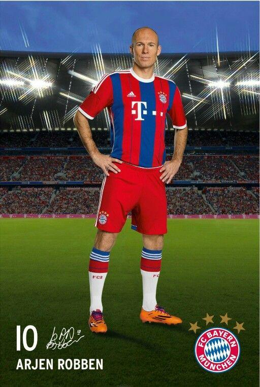dit is Arjen robben mijn favoriete voetballer en hij speelt ook bij mijn lievelings club