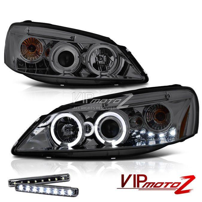 Halo Projector Smoke Headlight 2005-2009 Pontiac G6 GXP/GT LED DRL Angel Eye SET #VIPMOTOZ