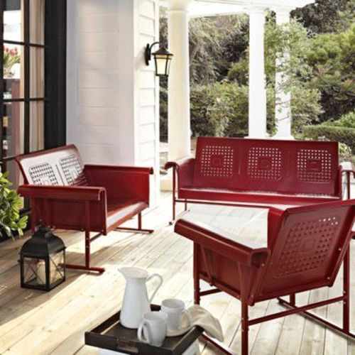 veranda retro metal patio furniture outdoor porch vintage deck garden wicker patios room. Black Bedroom Furniture Sets. Home Design Ideas