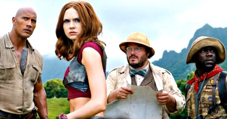 First Jumanji: Welcome to the Jungle Footage Looks Amazing -- Dwayne Johnson, Jack Black, Kevin Hart and Karen Gillan battle the dangers of the jungle in a first look at Jumanji 2 -- http://movieweb.com/jumanji-2-footage-video-dwayne-johnson-jack-black/