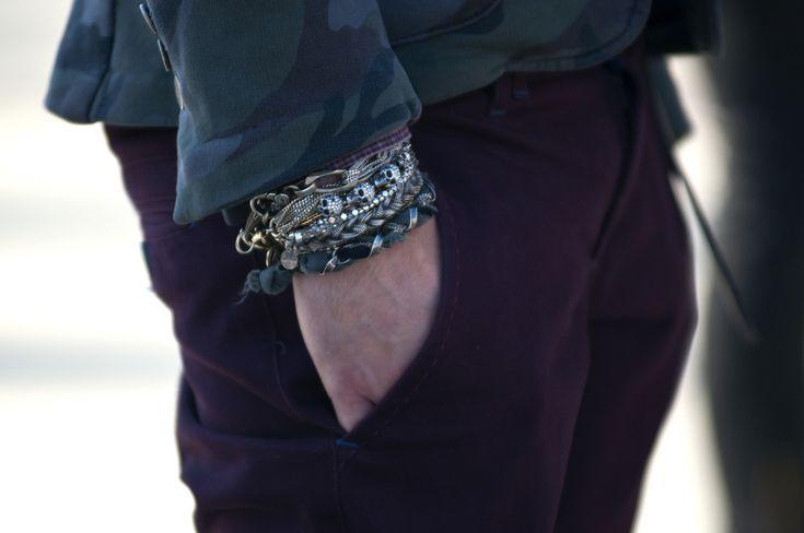 Yep.: Skull, Men Bracelets, Men Accessories, Men Style, Menstyle, Men Fashion, Stacking Bracelets, Style Men, Arm Accessories