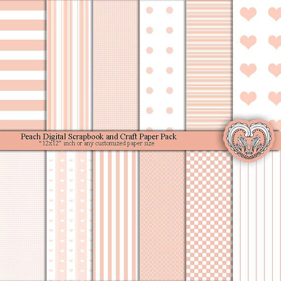 Pastel Peach Digital Paper Goods Printable Papers by ArtistaQ8