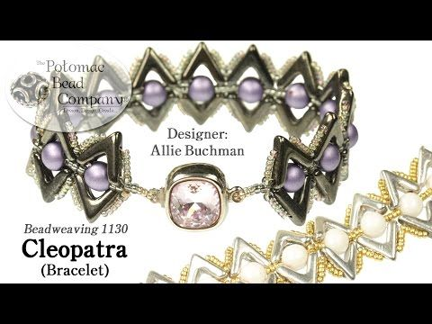 Cleopatra Bracelet (Tutorial) - YouTube (not sure I'd make this, but it's interesting). Uses Ava beads & RoundTrios