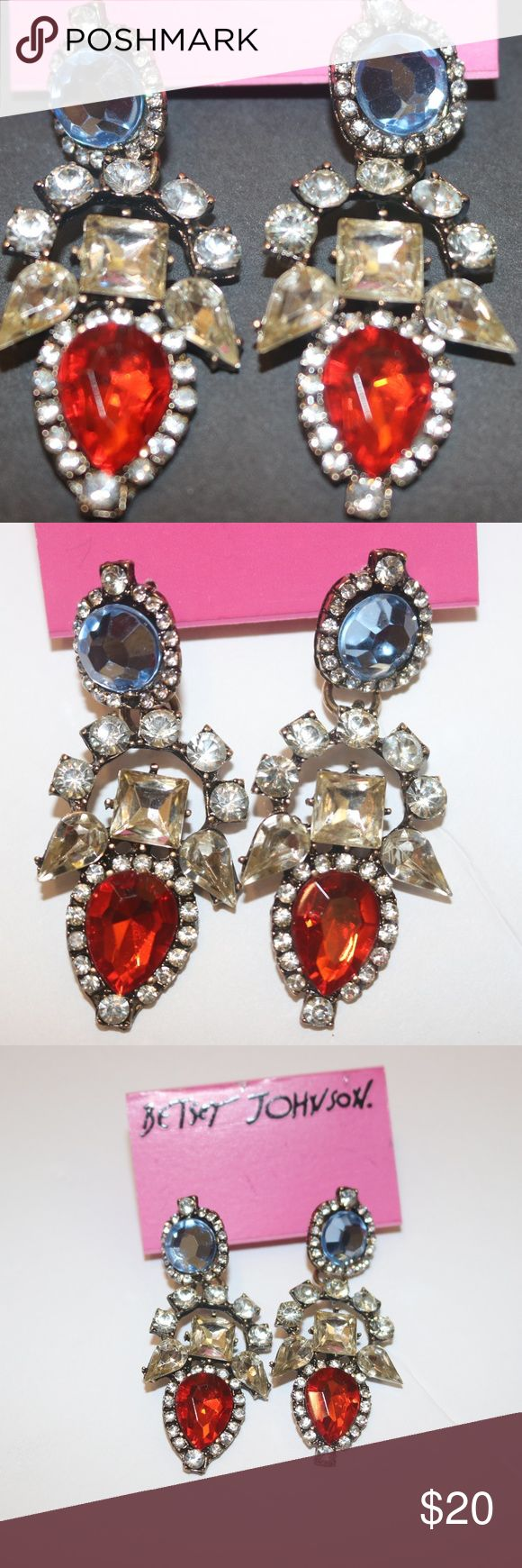 New Betsey Johnson Earrings Multicolor Nwt