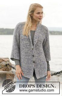 """Knitted DROPS jacket in garter st in """"Alpaca"""". Size: S - XXXL. ~ DROPS Design"""