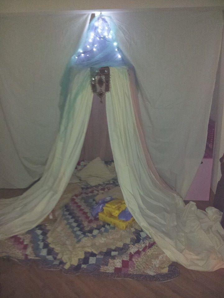 Birthday tent waldof style
