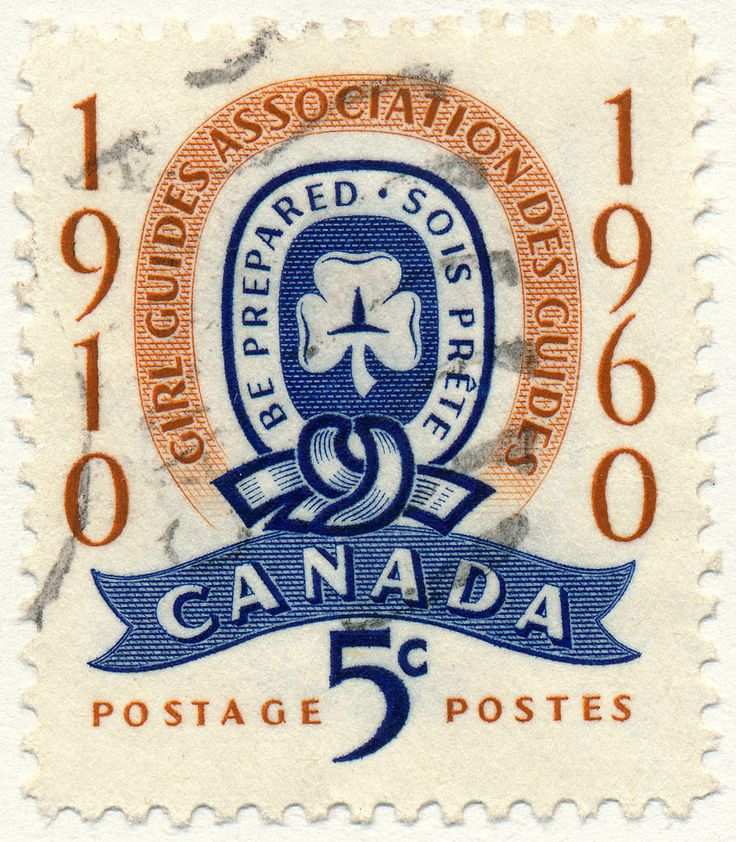 Girl Guides and 50th anniversary of the Scouting Association of Canada. (issued 1960)