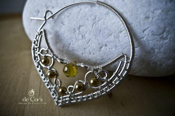de Cor's Handmade Jewelry: Wire Jewelry Malaysia – Silver WAU-Hoop Earrings, Finalized Version