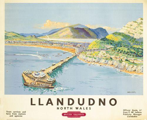 Llandudno travel poster
