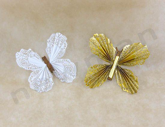 DIY πεταλούδες χάρτινες με υλικά NewMan | bombonieres.com.gr
