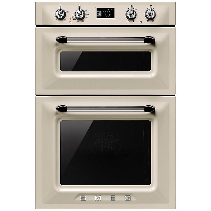 buy smeg dosf6920p victoria builtin double oven cream online at johnlewis - Double Oven Electric Range
