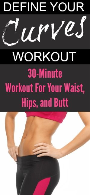 At-home 30-minute workout to redefine your curves! Waist, hips, butt and thighs workout from Tone-and-Tighten.com