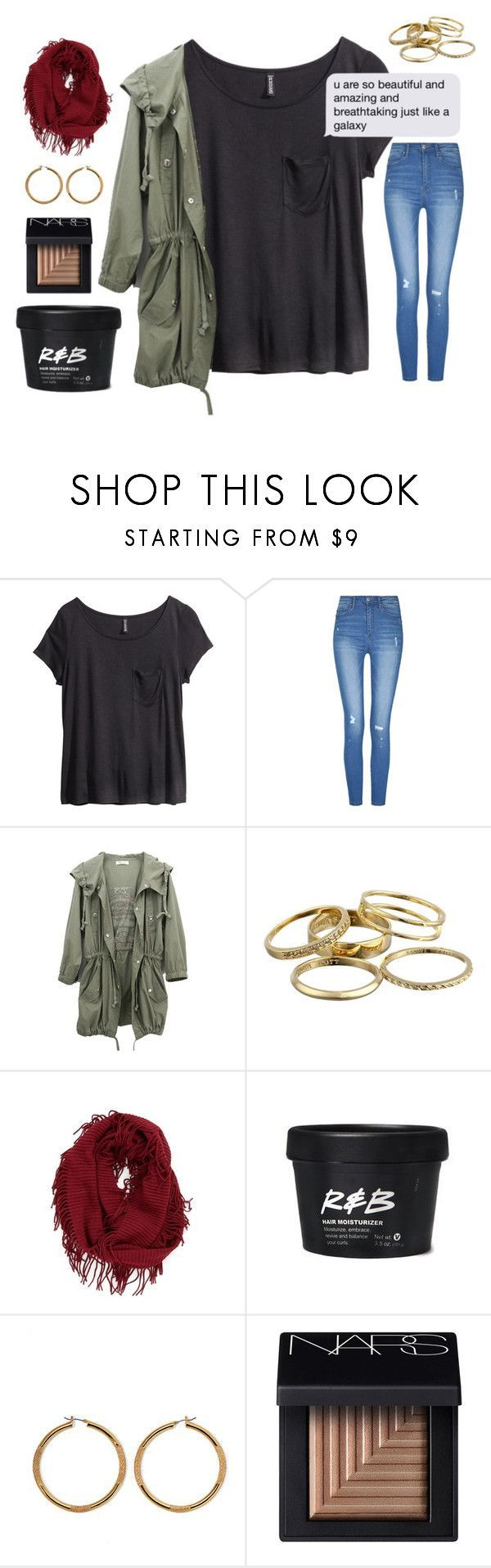 """""""Rural relaxation"""" by ringochic ❤ liked on Polyvore featuring H&M, Kendra Scott, BP., Vince Camuto and NARS Cosmetics"""
