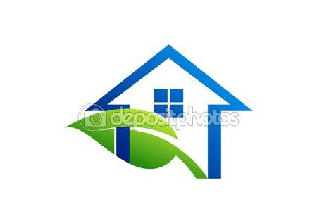 House logo and leaf,home shelter plants,real estate icon vector illustration http://depositphotos.com?ref=3904401