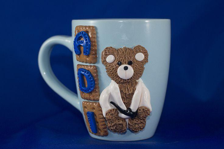 Essmes wyroby handmade: Kubek personalizowany miś judoka ADI