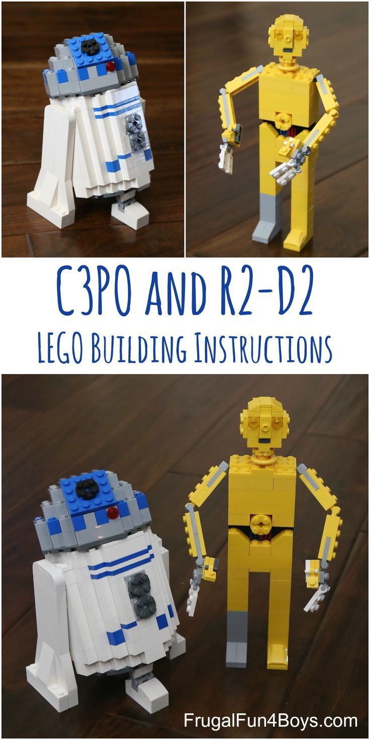 LEGO Building Instructions for R2-D2 and C3PO!  How to build these characters with pieces you already have.