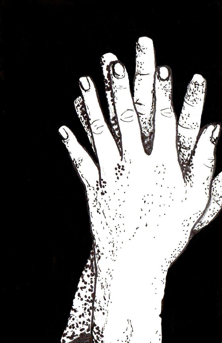 Hands, illustration. Ellen Alves